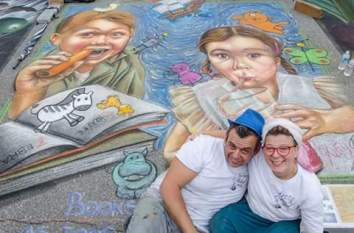 Finish ^_^ Sarasota Chalk Festival. Venice - Florida